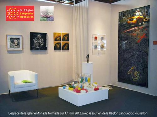 Visuel ArtNim'2012 avec les Gélules de Jérémy Taburchi (photo Galerie Monade Nomade).