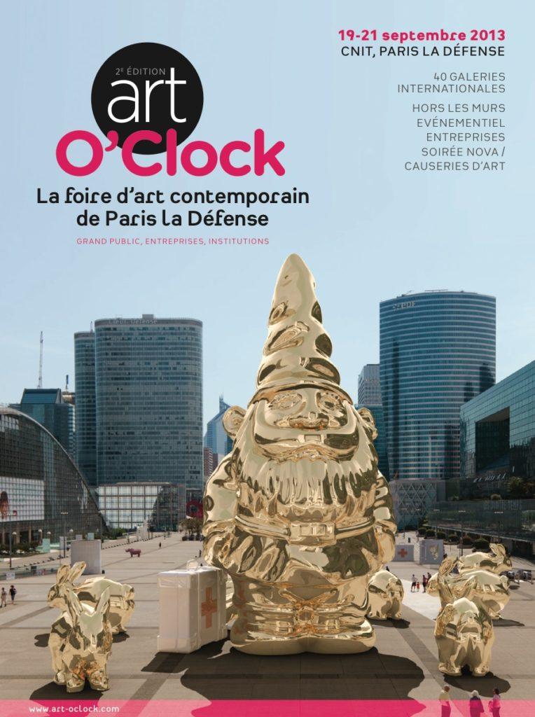 Affiche Art O'Clock 2013 pour la participation de Jérémy Taburchi à l'événement avec ses gélules d'antibios.