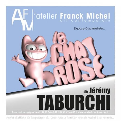 Projet d'affiche de l'exposition de Jérémy Taburchi à l'Atelier Franck Michel.
