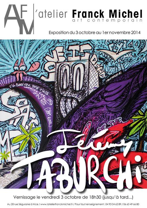 Affiche de l'exposition d'octobre à l'Atelier Franck Michel.