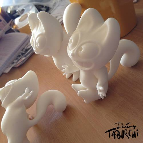 Le Chat Rose imprimé en 3D, en pièce unique.