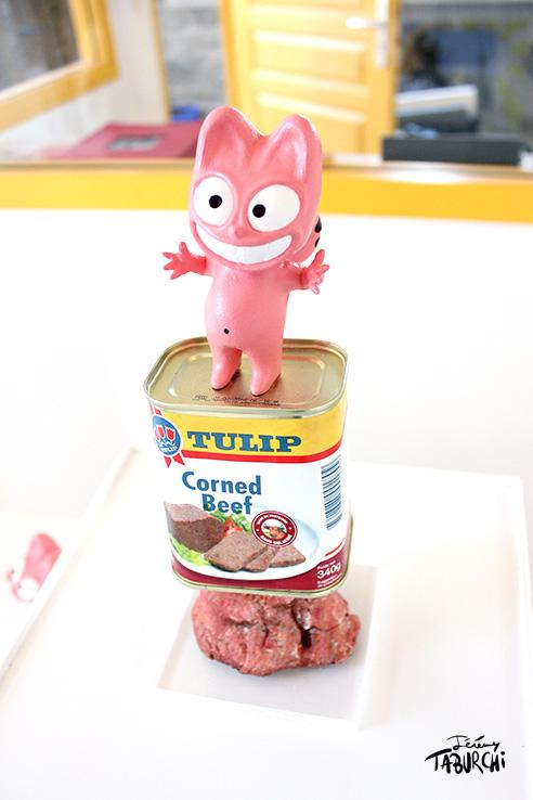 Corned Beef d'abondance, une sculpture de Jérémy Taburchi