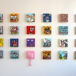 Mur de Chats Roses par Jérémy Taburchi
