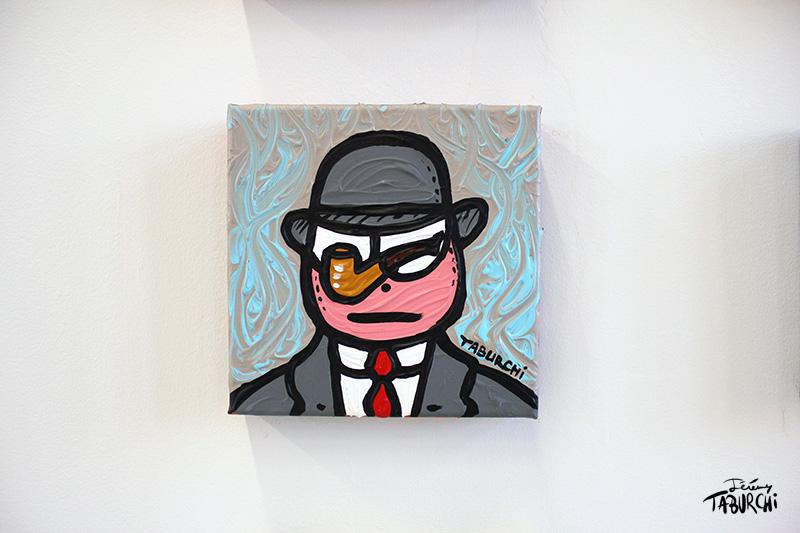 """""""Ceci n'est pas une pipe"""", le Chat Rose façon Magritte."""