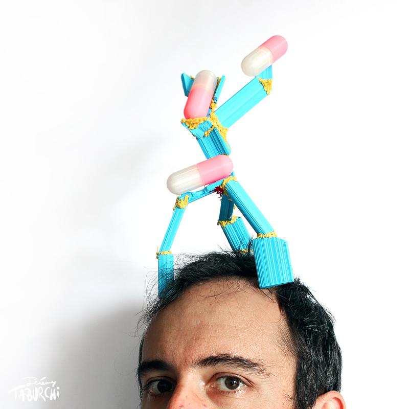 Autoportrait avec gélulier de Jérémy Taburchi