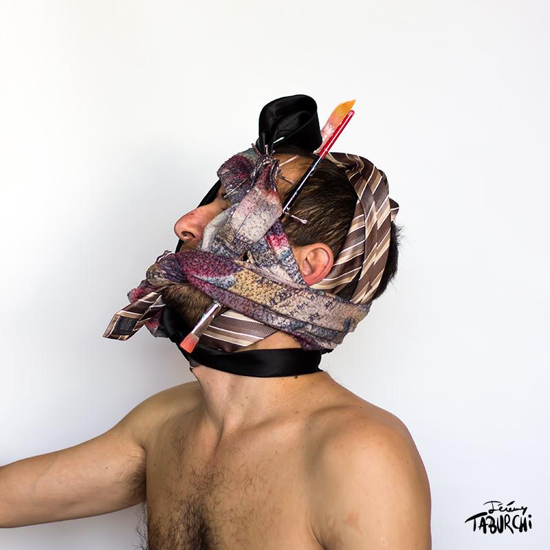 Autoportrait en tenue de soirée © Jérémy Taburchi 2015