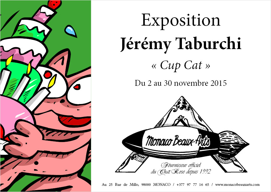 Exposition Cup Cat de Jérémy Taburchi chez Monaco Beaux Arts