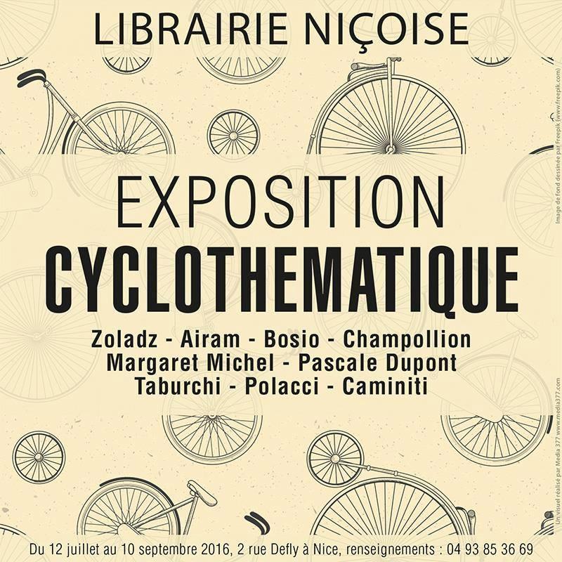 Exposition Cyclothématique à la Librairie Niçoise