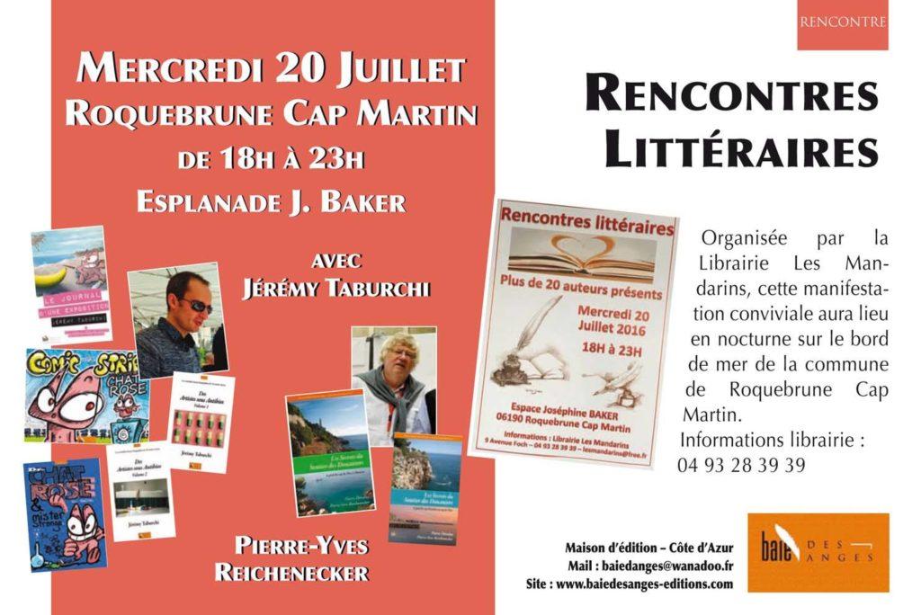 Rencontres Littéraires de Roquebrune Cap Martin