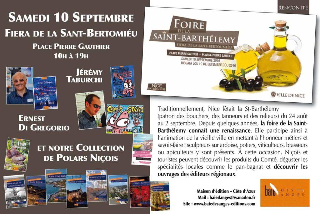 Fiera de la Sant-Bertoumiéu à Nice, Foire de la Saint Barthélemy à Nice