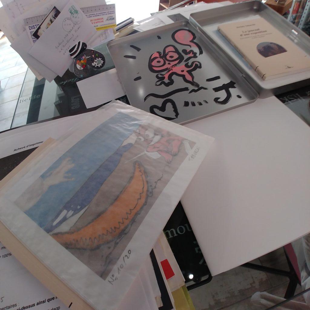 Une estampe du Journal d'une exposition de Jérémy Taburchi