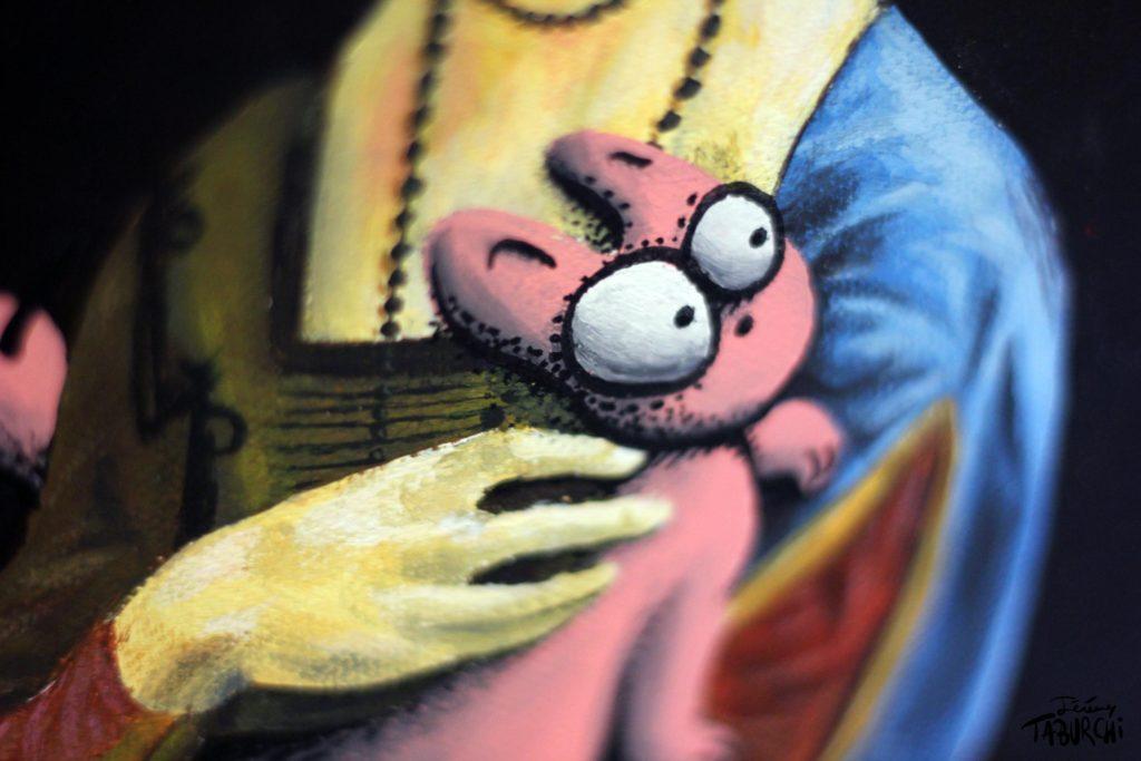 La Dame à l'hermine revisitée par Taburchi