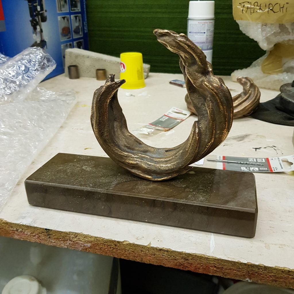 Une sculpture dans le cadre du projet Une Théorie Naturelle
