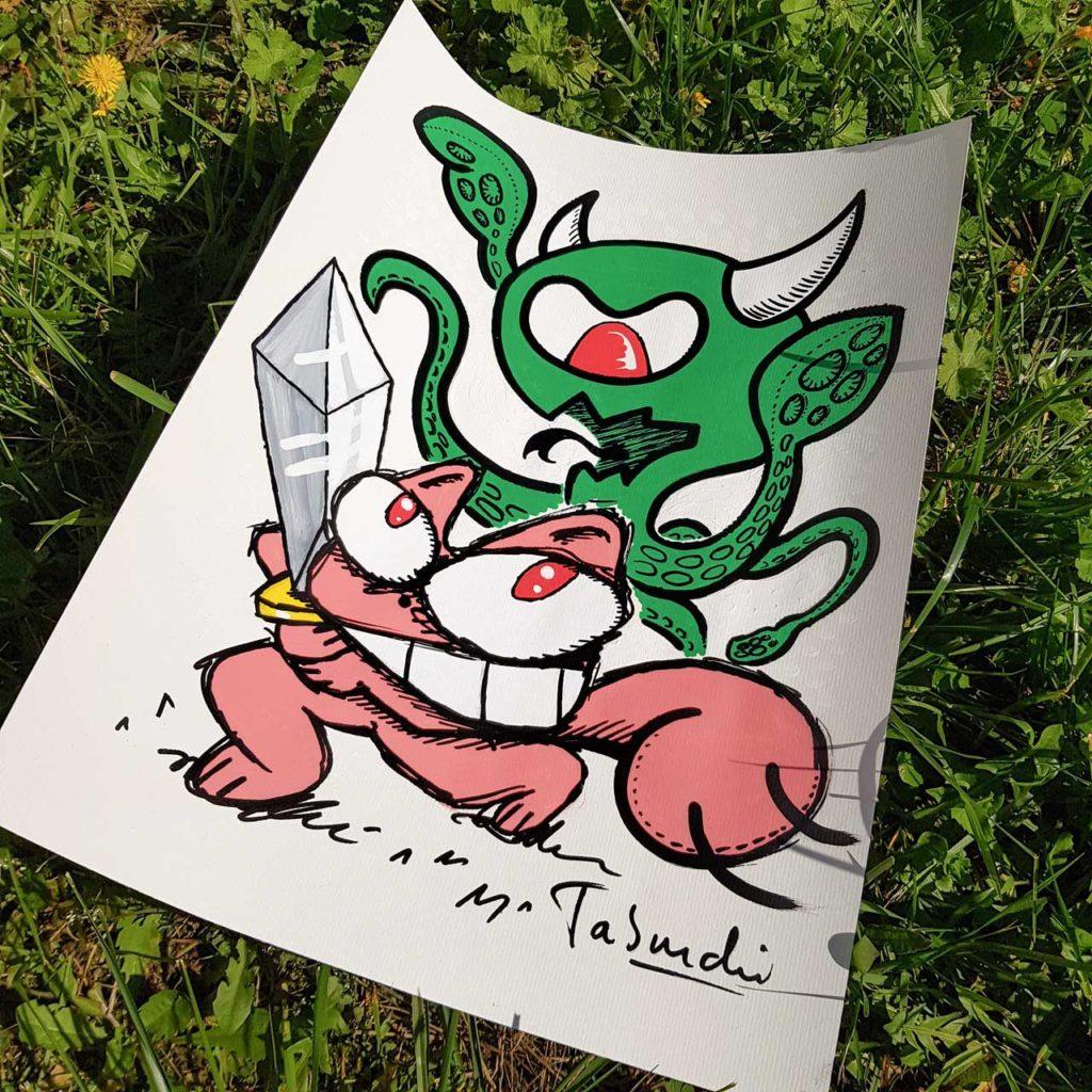 Un dessin de Jérémy Taburchi contre le Coronavirus