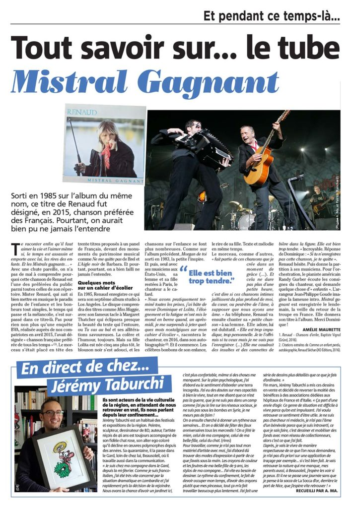 Article dans le journal Nice Matin