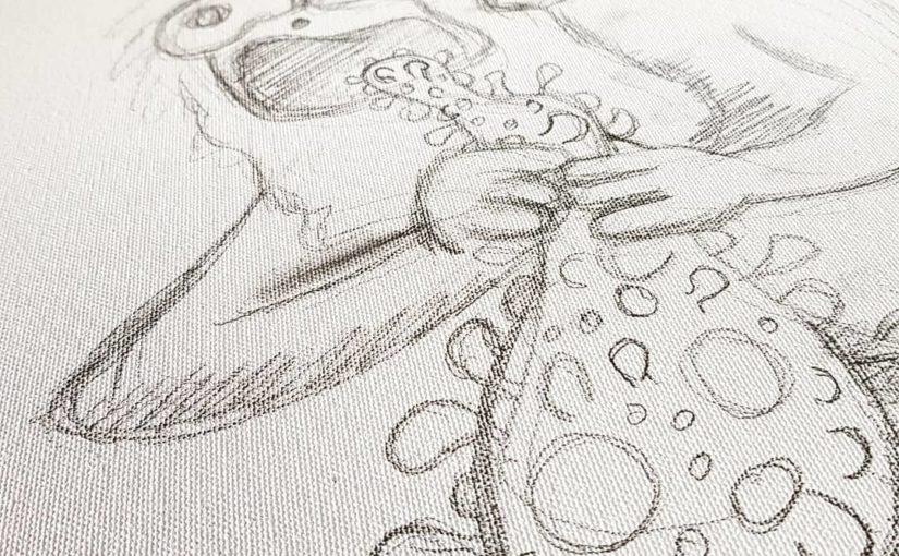 Le Chat Rose façon Saturne dévorant un de ses fils de Goya
