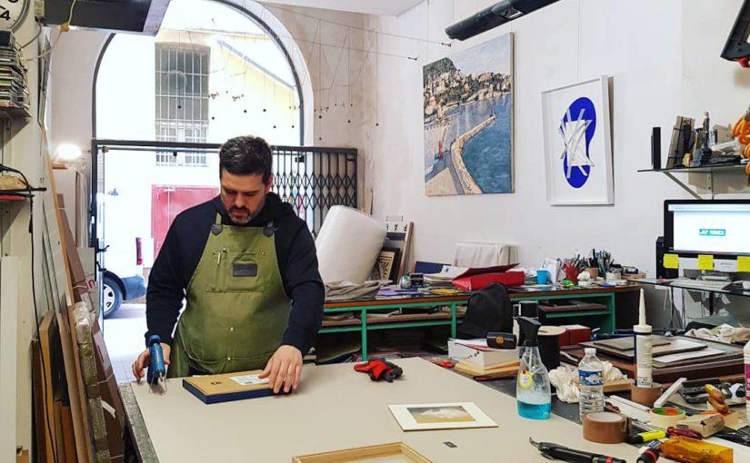 Lou Can à l'atelier Soardi & Soardi dans le Vieux-Nice