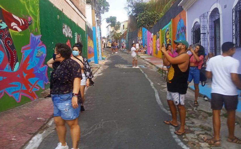 En exposition de rue à São Luis do Maranhão (Brésil)